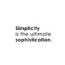 Simplicity is the ultimate sophistication by Namoh