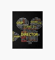 Filmmaker Cinematographer Director Cinematography Filmmaking Gifts - Camera with Word Cloud  Art Board