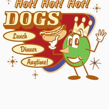 Vintage T-Shirts Hot Dog by HannahTShirts