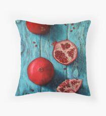 Juicy pomegranate Throw Pillow
