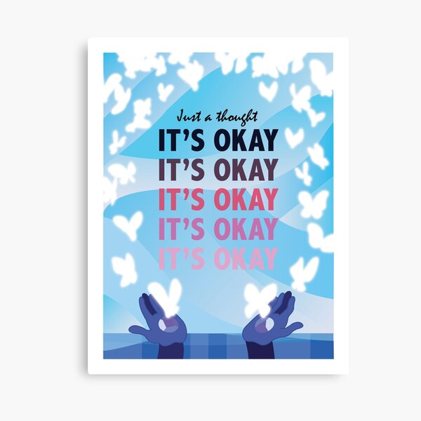 It's Okay Illustrated Quote Canvas Print