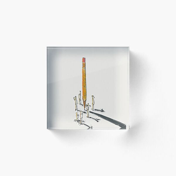 Ineffable Pencil Acrylic Block