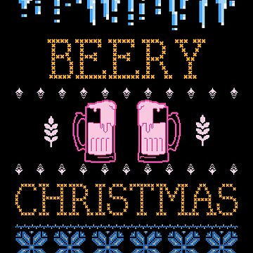 Christmas Ugly Christmas Sweater Style Beer Lover Gift by TrndSttr