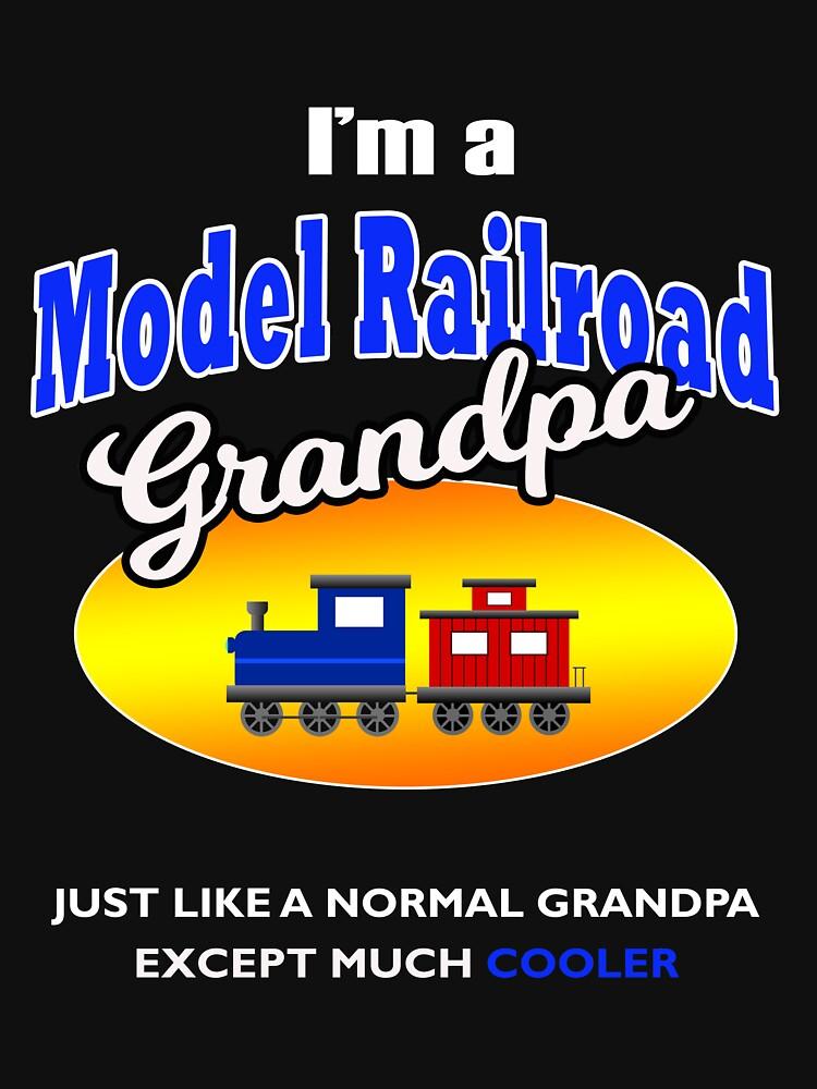 Mens I'm a Model Railroad Model Trains Grandpa Hobby T Shirt by techman516