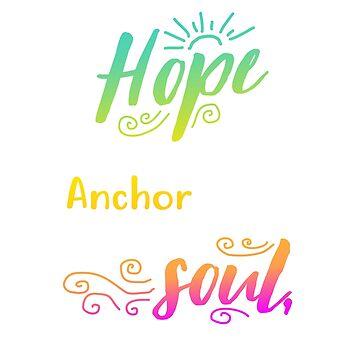 Novelty Christian Shirts,  Hope Anchor Bible Verse T-shirt  by teesogram