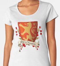 Camiseta premium de cuello ancho Campeón del Rey - El Escudo de Leona