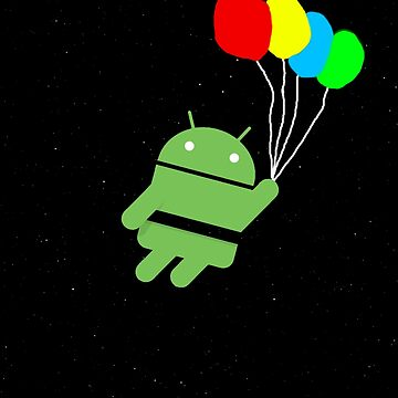 Android holding balloons. by league95