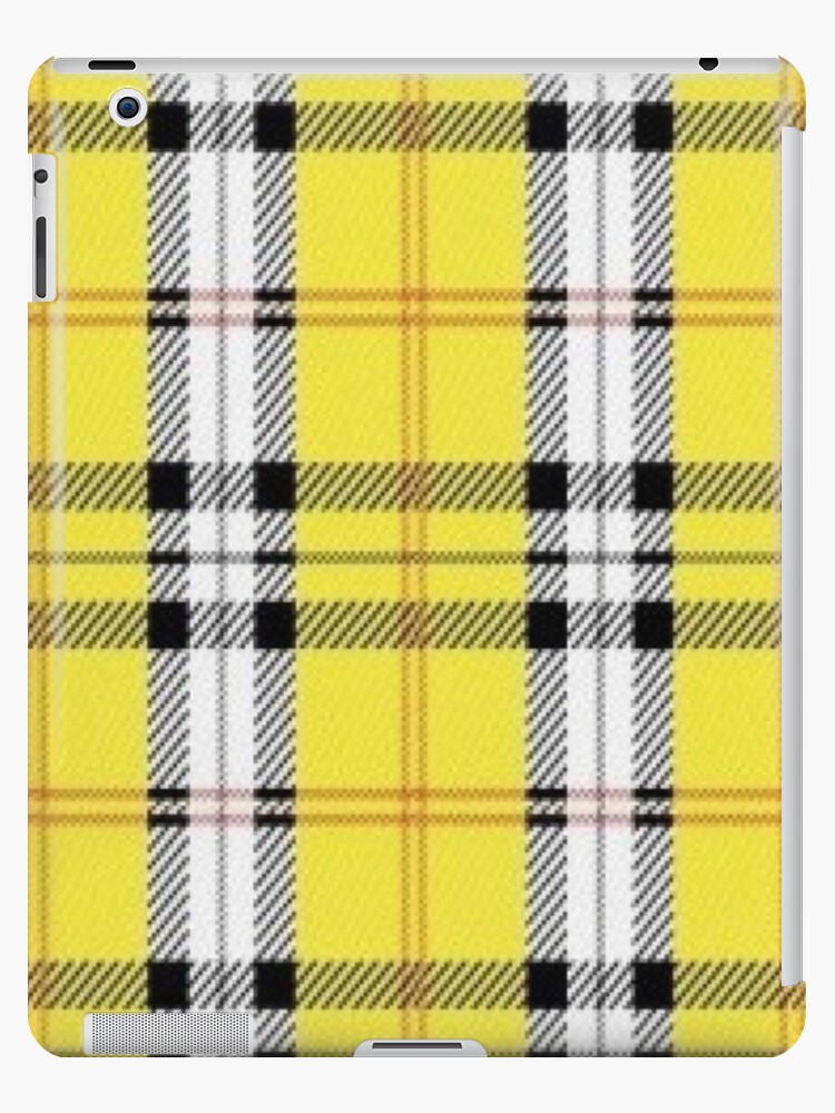 sports shoes 33377 da199 'wildflower yellow plaid' iPad Case/Skin by hlncxiiiv