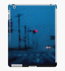 view from car window at rainy day iPad Case/Skin