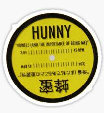 HUNNY VOWELS VINYL Sticker