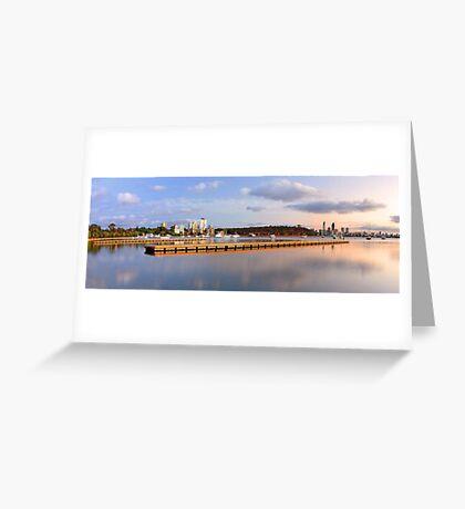 Matilda Bay Jetties At Dawn  Greeting Card