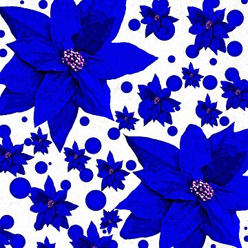Poinsettia Blue FLOWER by Overthetopsm