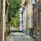 Beguinage street Lier - Belgium by Gilberte