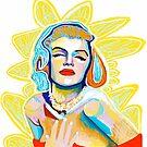 Marilyn iPad Portrait by Lee Wilde