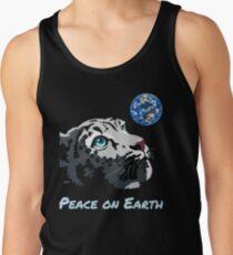"""Peace on Earth"" Christmas snow leopard by Schim Schimmel Tank Top"