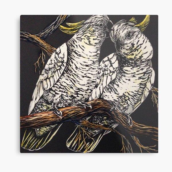 Cockatoo Couple Metal Print