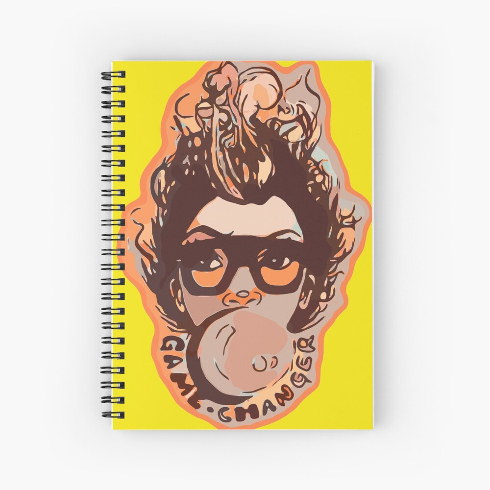Bubble Gum Pretty Girl Afro Hair Mohawk  Spiral Notebook