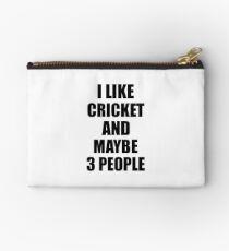 CRICKET Lover Funny Gift Idea I Like Hobby Studio Pouch