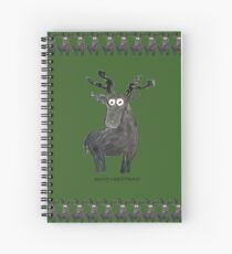 Moosy Christmas Spiral Notebook