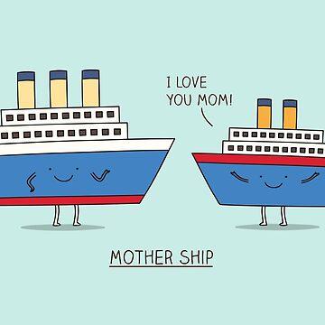 Mother ship by Milkyprint