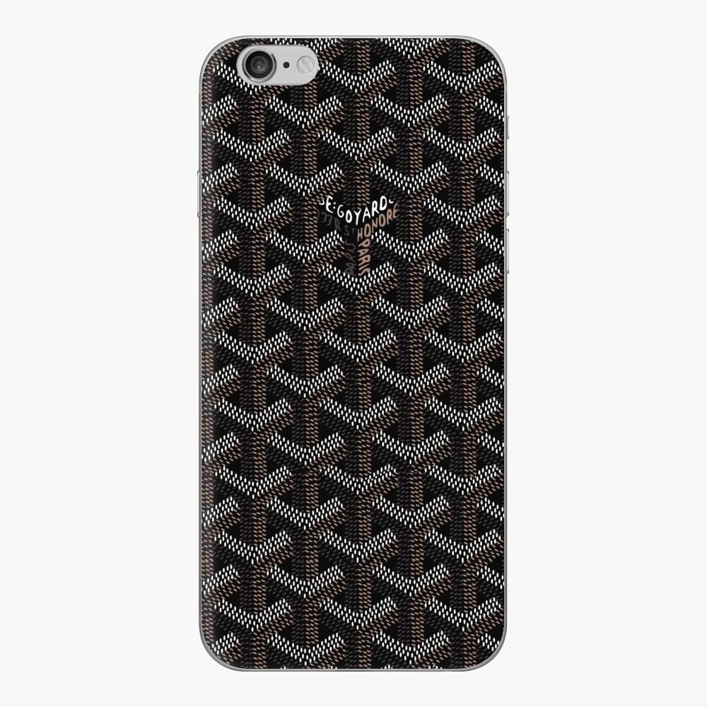 Goyard negro Vinilo para iPhone