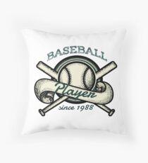 Vintage baseball Throw Pillow