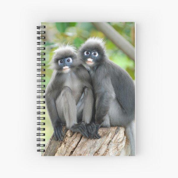 Dusky Leaf Monkeys Spiral Notebook
