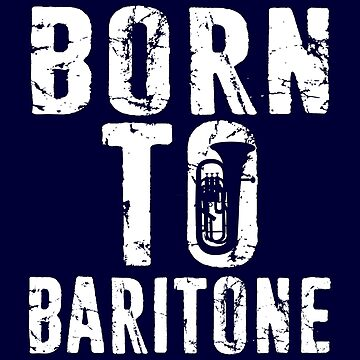 Baritone Euphonium Shirt BrassBand Musician Marching Band Player Tee by niftee