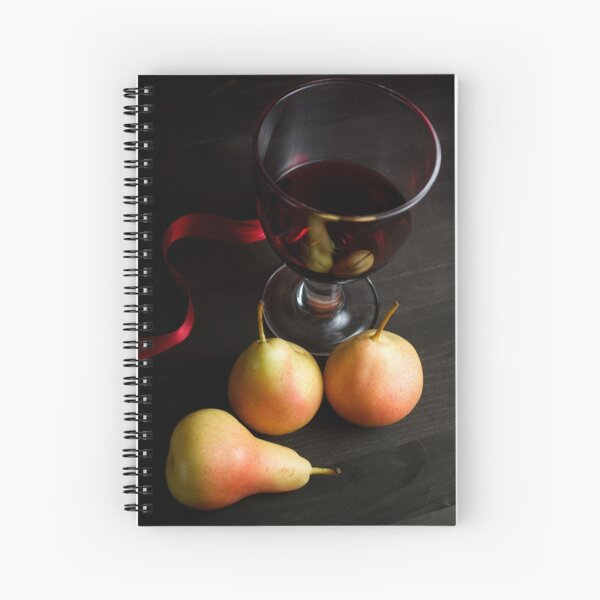 Red Wine and Pears Spiral Notebook