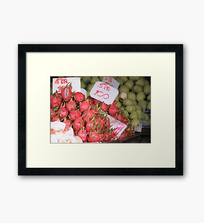 Exotic Fruits of Thailand Framed Print
