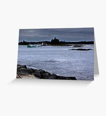 Blue Rocks, Late October Greeting Card