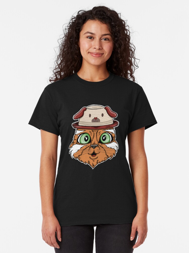 Alternate view of Cute Cat with Doghat Classic T-Shirt