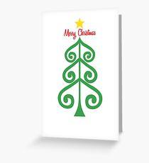 Swirly Christmas tree Greeting Card