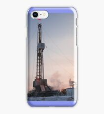 Drilling rig. iPhone Case/Skin
