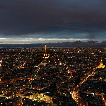 Paris Lights Night View by discreetpeacock