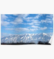 Winter Morning Sunrise ~Ben Lomond Peak & Willard Peak in Utah Poster