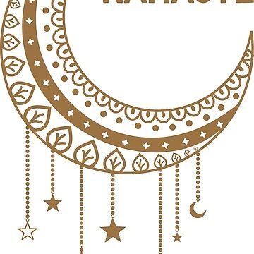 Namaste Mandala Moon by studiopico