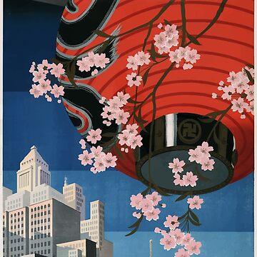 Vintage Travel Poster Tokyo Japan 1930s by G-Design