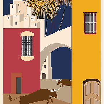 Vintage Travel Poster Spain by G-Design