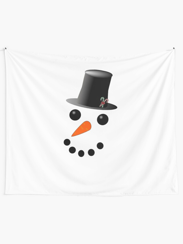 Smiling Snowman with Button Eyes and Carrot Nose Unisex Pullover Hoodie
