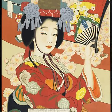 Vintage Travel Poster Osaka Japan by G-Design