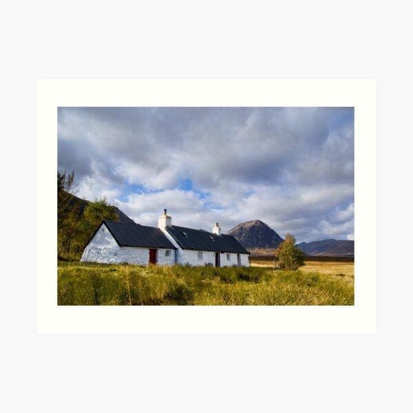 Blackrock Cottage, Glencoe Art Print