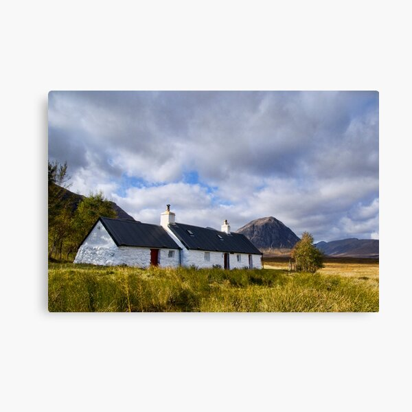 Blackrock Cottage, Glencoe Canvas Print