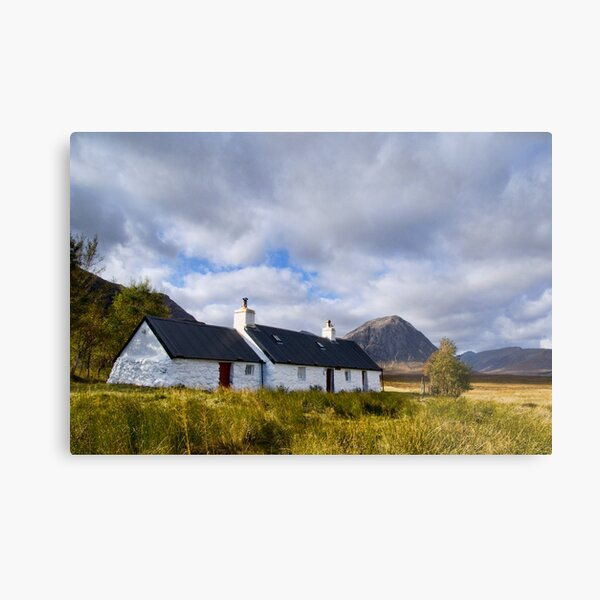 Blackrock Cottage, Glencoe Metal Print