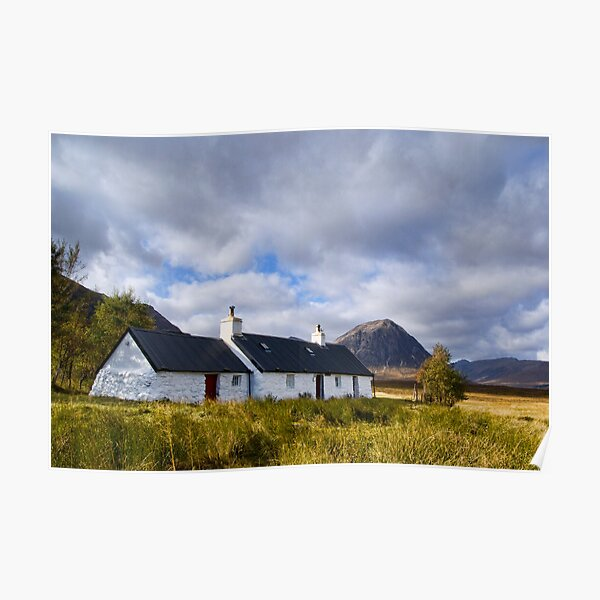 Blackrock Cottage, Glencoe Poster
