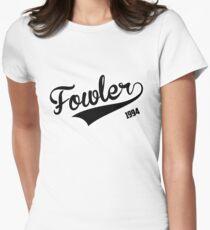 """Fowler 1994"" Varsity Black Women's Fitted T-Shirt"