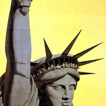 Vintage Travel Poster Statue of liberty by G-Design