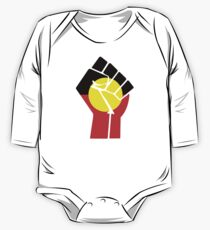 Raised Fist - Aboriginal Flag One Piece - Long Sleeve