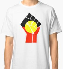 Raised Fist - Aboriginal Flag Classic T-Shirt
