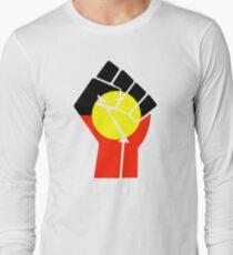 Aufgeweckte Faust - Aborigines Flag Langarmshirt